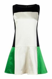 Begagnad Fit and Flare Color Block Dress