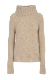 SWEATER W/RIBBED HIGH NECK