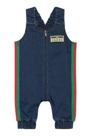 Baby jersey denim overall