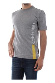 CALVIN KLEIN K10K103960 VERTICAL LOGO T SHIRT AND TANK Men GREY HEATHER