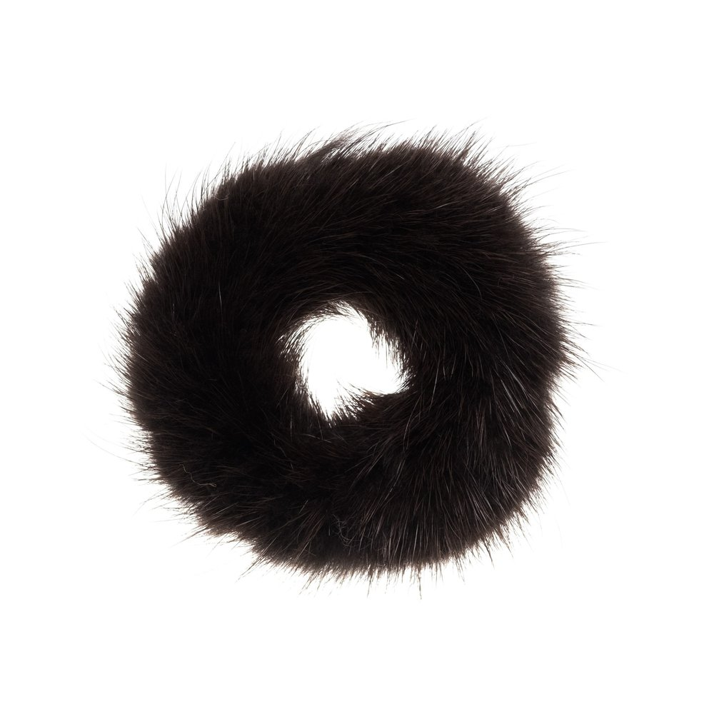 FUR SCRUNCHIE CHOCOLATE BROWN