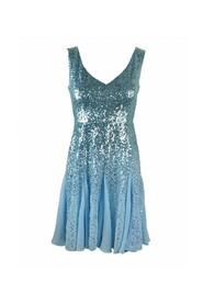 short chiffon dress with sequins