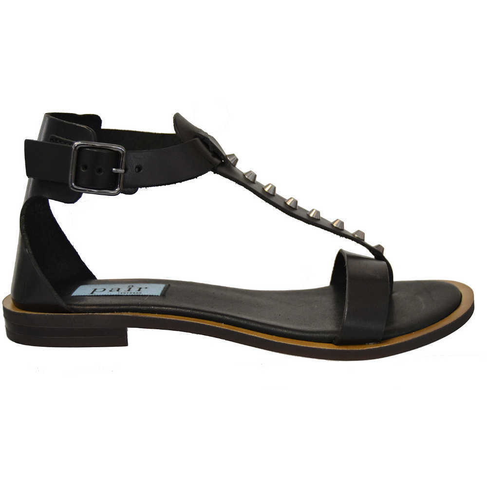Sort Apair 1318N660 Flat Sandal