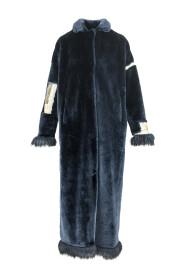 Długi płaszcz ze sztucznego futra GUSTAV
