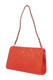 Icon Chain Patent Leather Shoulder Bag