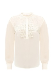 Top with lace trim
