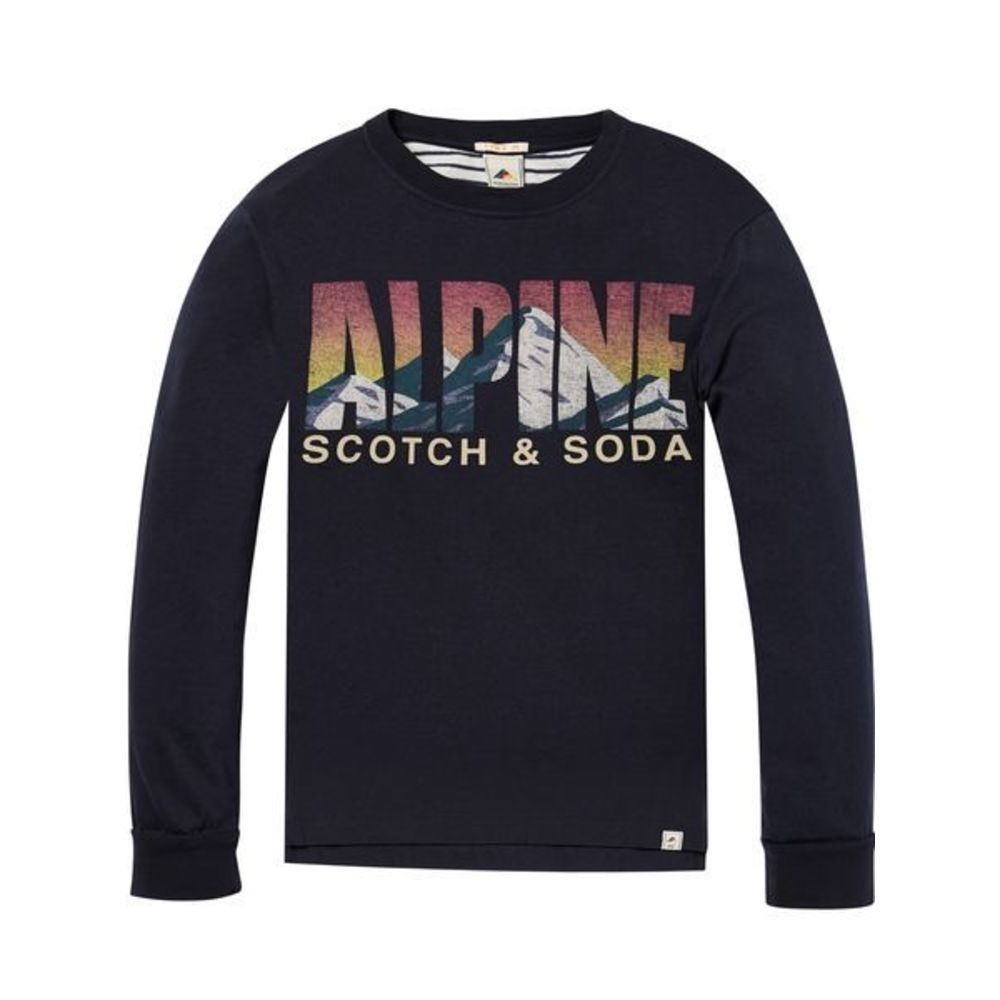 Scotch Shrunk T-shirt L/S marin