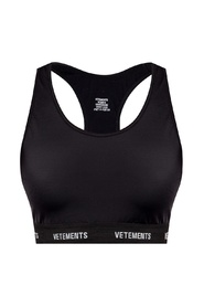 Logo-embroidered sports bra