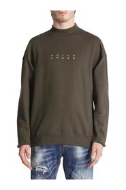GAUZED SWEATSHIRT WITH HIGH NECK