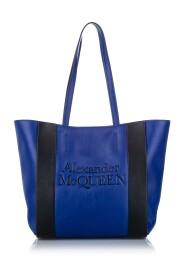 Logo Leather Tote Bag