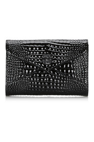 Embossed Patent Leather Clutch