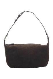 Käytetty C Macadam Shoulder Bag Leather Suede