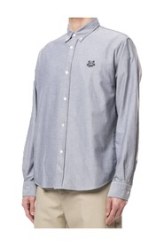 Tiger Embroidered Oxford Shirt