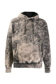 faded effect hoodie