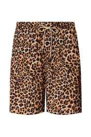 Shorts with leopard print