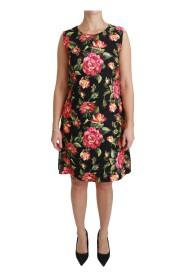 Blommig Skift A-linje-klänning