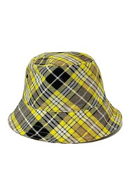 Reversible Checked Wool-blend Bucket Hat