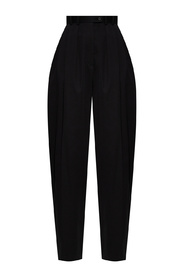 Lariana pleat-front trousers