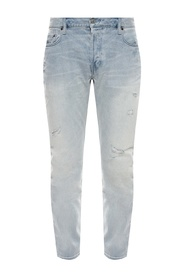 'Rex' jeans with raw edge