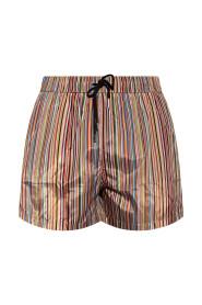 Swim shorts with stripes