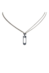 Silver Chain Necklace Metal SV925