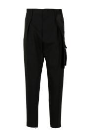 Pleat Slim-Cut Trousers