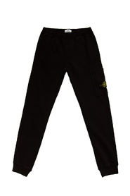 Sweatpants with logo patch