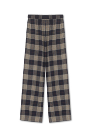 Line Pants Checked Soft Wool Marine