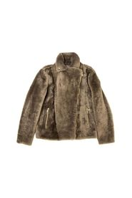 Outerwear jacket in soft sheepskin