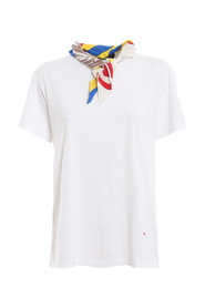 T-shirt with non detachable scarf