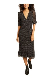 Anna mid-length dots dress