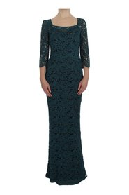 Floral Lace Bodycon Maxi Ball klänning