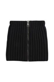 Zip-Through Knitted Collar