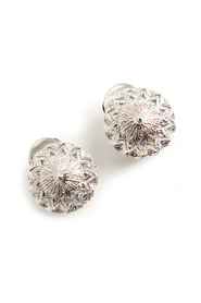 Pre-owned button clip on earrings