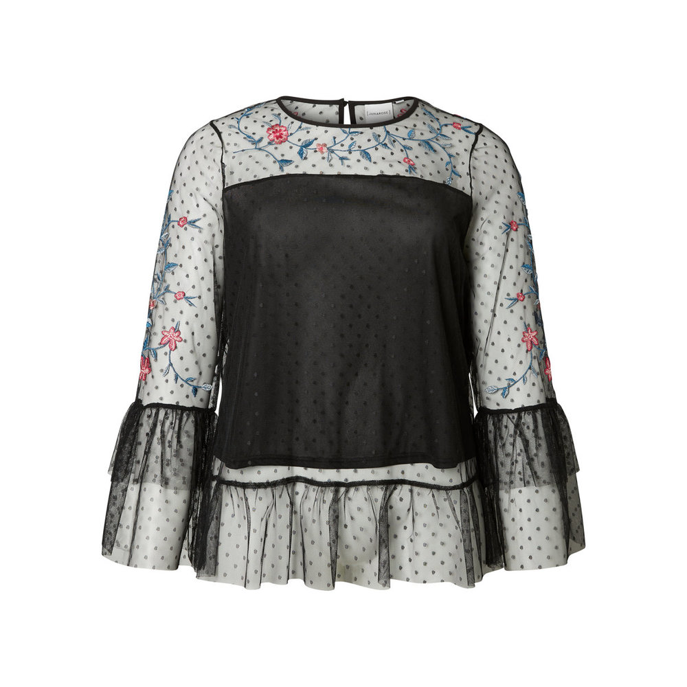 Long sleeved blouse Mesh
