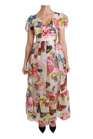 Silk Butterfly A-Line Shift Gown Dress