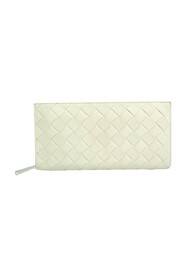 Pre-owned Intrecciato Leather Long Wallet (bi-fold)