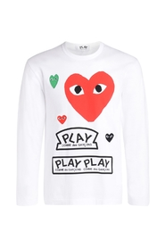 T-Shirt with red heart and logos