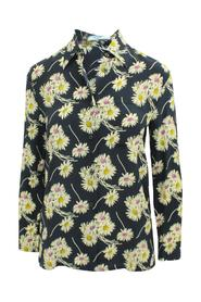 Floral Print Silk Shirt -Pre Owned Condition Very Good
