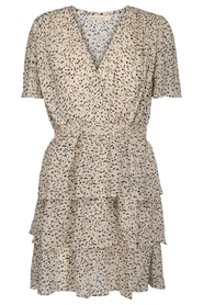 dotted 3 Flounce dress