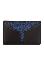 men's genuine leather credit card case holder wallet pictorial wings