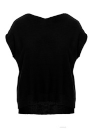 Key holeback pullover sweater