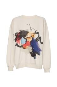 Rose Artwork Splatter Sweater