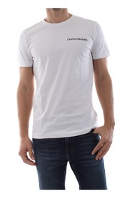 CALVIN KLEIN JEANS J30J307852 CHEST INSTIT. T SHIRT AND TANK Men WHITE