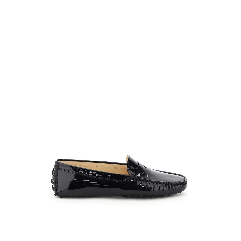 gommini patent loafers