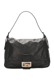 Mamma Forever Leather Baguette Bag