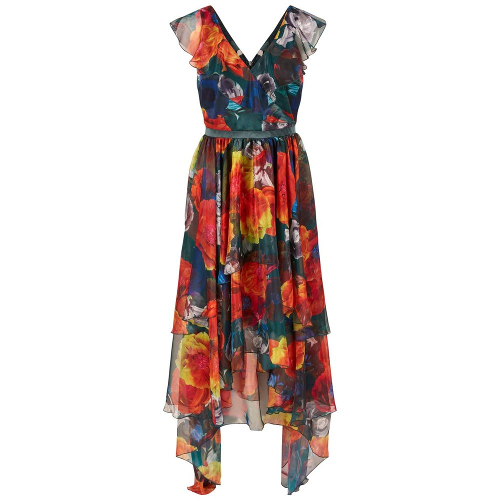Midi dress Waist focused floral