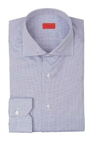 Cotton shirt with a micro dot pattern