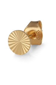 Reflection Round Stud, gold-plated sterling silver