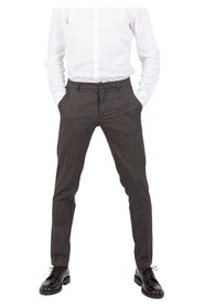 Dark brown pied-de-poule trousers